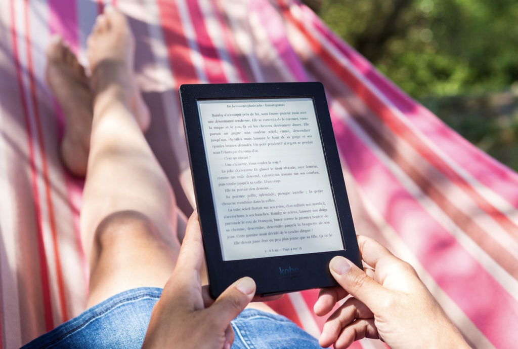 summer e-book reading