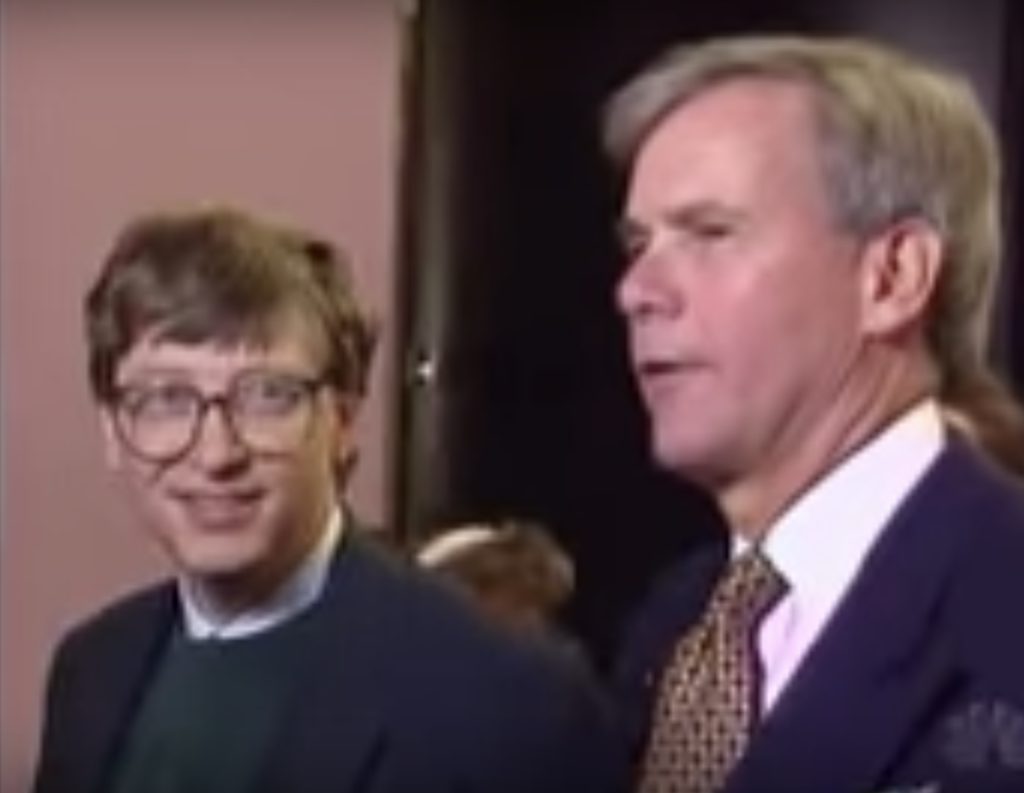 Bill Gates and Tom Brokaw