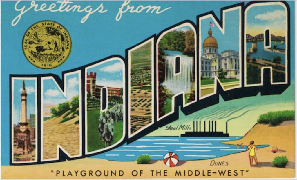 vintage Indiana postcard
