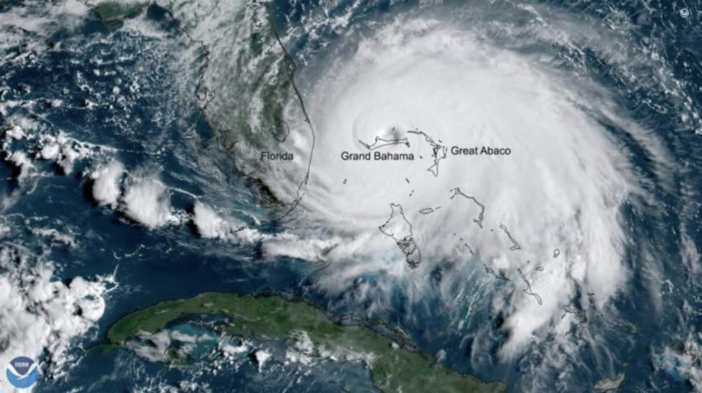 Hurricane Dorian map